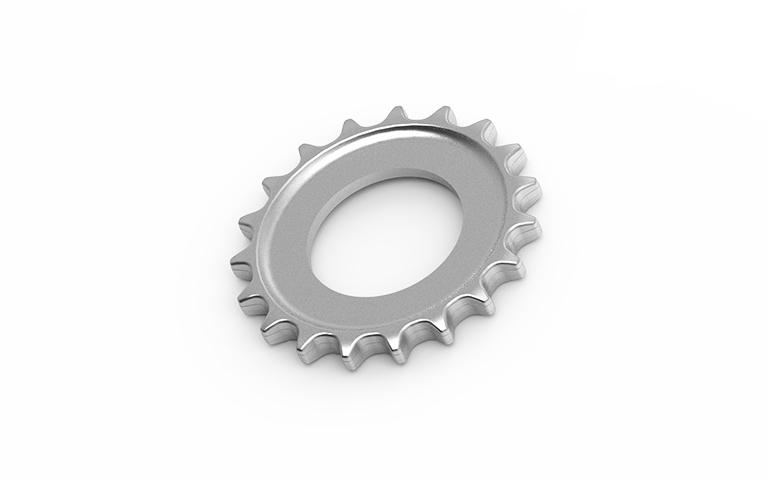 Ruota dentata in acciaio
